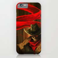 iPhone & iPod Case featuring Skull Cowboy by PhilipsBen