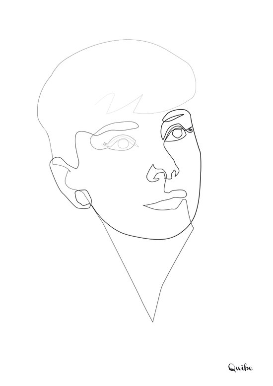 One line Audrey Hepburn Canvas Print