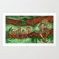 Tropical Fluffiness Art Print