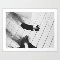 Puppy And Feet Art Print