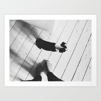 Puppy And Feet Art Print