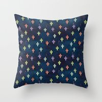 Catctus Space Throw Pillow