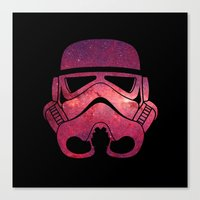 Stormtrooper On Red Star… Canvas Print