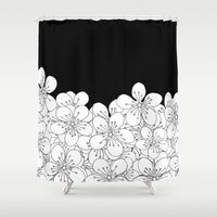 Cherry Blossom Boarder Shower Curtain