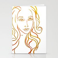 Yellow Portrait Stationery Cards