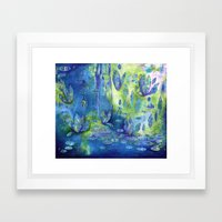 Floating Dance Framed Art Print