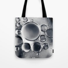 Silver Macro Photography Water Droplets Tote Bag