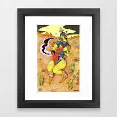 Expulsion Of Negative Will, As Requested By The Guards Framed Art Print