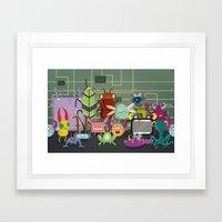 Computer Bugs Framed Art Print