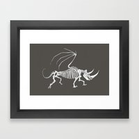 Dead Wing Framed Art Print