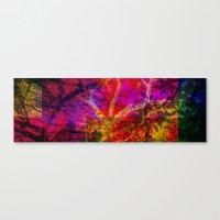 Vegetal Collage Canvas Print