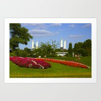 Battersea Power Station and Battersea Park Art Print