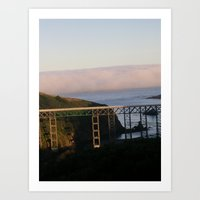 And Then The Fog Rolled … Art Print
