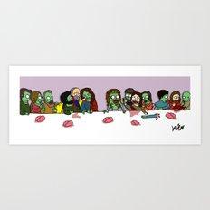 Zombie supper Art Print