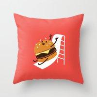 Slider Burger Throw Pillow