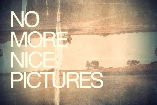 no more nice pictures | 2012 Art Print