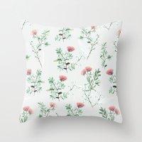springtime pink Throw Pillow