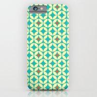 Repeated Retro - Turquoi… iPhone 6 Slim Case