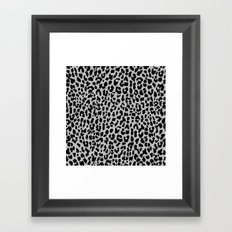 Neon Gray Leopard Framed Art Print