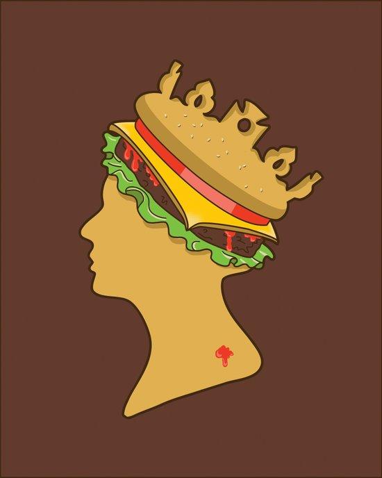 Burger Queen aka Royal With Cheese Art Print
