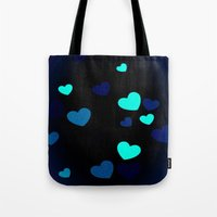 Blue Hearts Tote Bag