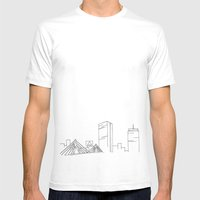 Boston Skyline Mens Fitted Tee White SMALL