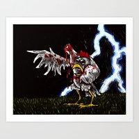 Poultry-Geist Art Print