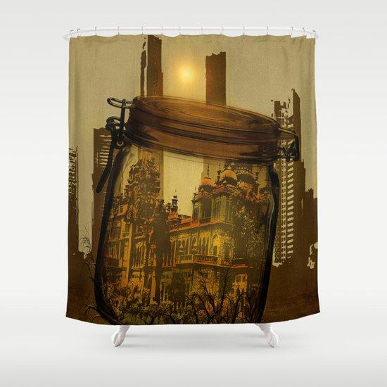 The last vintage city. Shower Curtain