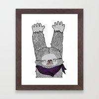 Trendi Yeti Framed Art Print