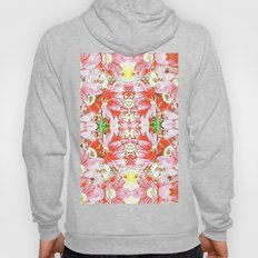 K-196 Abstract Pink Flowers Hoody