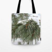 Winter Pine Tote Bag