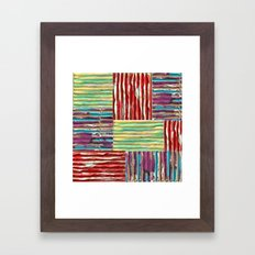 Painterly Corrugated Cardboard Framed Art Print