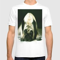 PUG POWER OUTAGE Mens Fitted Tee White SMALL