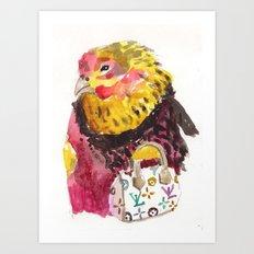 fancy ms. hen Art Print