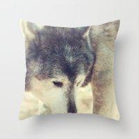 Wolfs Beauty Throw Pillow