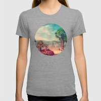 MALCESINE Womens Fitted Tee Tri-Grey SMALL
