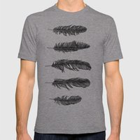 Lucky Five Feathers Mens Fitted Tee Tri-Grey SMALL