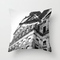 away from this city  Throw Pillow