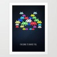 Invader Boss Art Print
