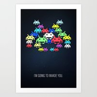 invader boss Art Print