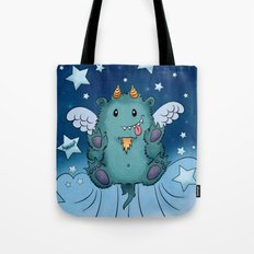Twinkle Toes the Happy Chaos Monster Tote Bag