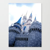 Disney Castle In Color Canvas Print