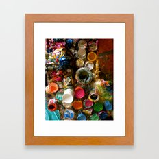 Paint Splatters Framed Art Print