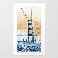SanFrancisco Iconic Pane… Art Print