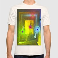 HALL OF FAERIE LIGHTS Mens Fitted Tee Natural SMALL