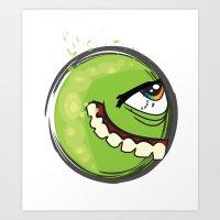 Green Freak Art Print