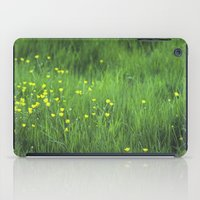 yellow flowers iPad Case