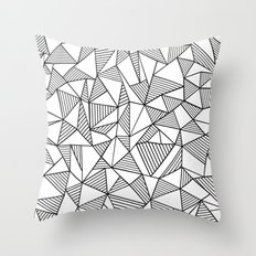 Abstraction Lines Black on White Throw Pillow