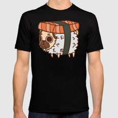Puglie Salmon Sushi Black Mens Fitted Tee SMALL