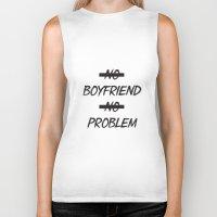 No Boyfriend No Problem Biker Tank